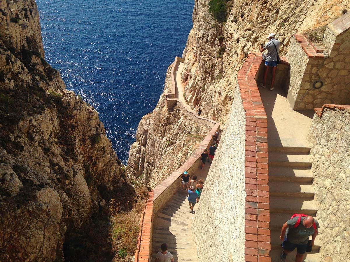 Scalinata delle Grotte di Nettuno